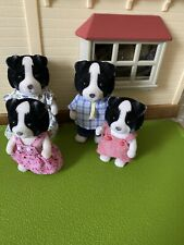 Sylvanian Families Fletcher Border Collie Sheep Dog Family Set Calico Critters