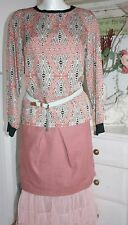 Noa Noa Pullover Shirt Langarm Ethnic Printed Cupro Printed Black size:36/S Neu