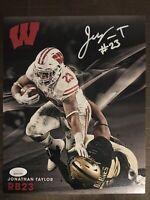 Jonathan Taylor Autograph 8x10 Signed Photo w/ JSA COA Wisconsin Badgers, Colts