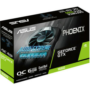 ASUS GeForce GeForce GTX 1660 Phoenix OC 6GB GDDR5 Graphics Card