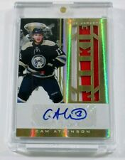 2011-12 Certified CAM ATKINSON Jersey Patch Auto RC /25 #265 RPA 2CLR NHL CBJ