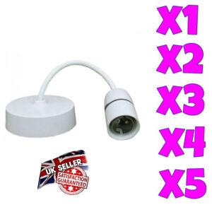 "6"" Inch PENDANT BC Ceiling Rose Light Bulb Bayonet Lamp Holder Push Fit 250V 6''"