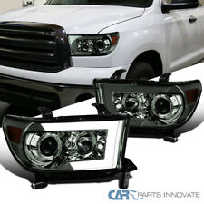 For 07-13 Tundra Sequoia Smoke Switchback Sequential LED Projector Headlights