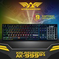 Gaming Keyboard Armaggeddon AK999SFX USB 9 Colours Spill Proof Gaming Keyboard