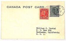 UU535 1944 Canada Mont Coteau & Ottowa California USA Postcard {samwells-covers}