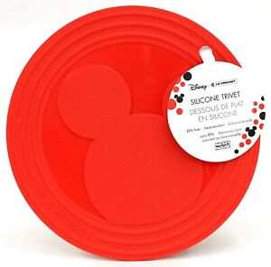 New Le Creuset x Disney Mickey Mouse Icon Red Silicone Trivet Hot Pad