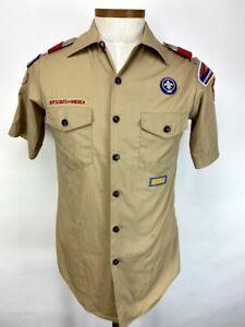Boy Scouts of America BSA Official Uniform Short Sleeve Shirt Adult Small