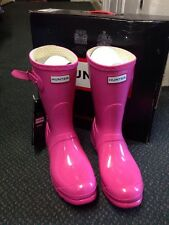 Hunter Corto Wellington Fucsia Rosa Brillo Talla 7 40/41 reducido