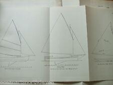 Antique Print C1895 dixon kemp Yacht & Boat Plan Voile Sail YRA Yacht's Cutter
