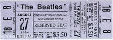 1  BEATLES VINTAGE UNUSED FULL CONCERT TICKET 1964 Cincinnati, Ohio  laminated