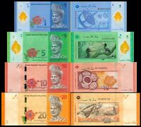 MALAYSIA MALASIA Set 4 PCS 1,5,10 & 20 RINGGIT 2012-2018 P-NEW NEW DESIGN UNC