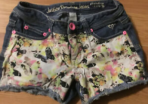 Justice Girls Size 10 Simply Low Shorts Butterfly Premium Jeans