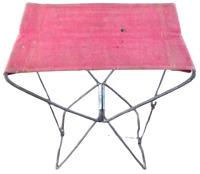 Ancienne Chaise siège pliant de pêche chasse en toile camping plage randonnée