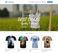 T-shirts Store Website For Sale - Earn £290.00 A SALE. Free Domain| Web Hosting