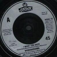 "BANANARAMA i want you back  bad for me uk london NANA 16 7"" WS EX/"