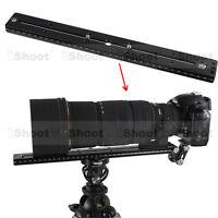 35cm Schnellwechselplatte f Kamera Stativ Stativkopf Teleobjektiv Halter Schiene