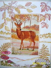 Counted cross stitch Deer Stag Wildlife by Derwentwater 14 ct aida
