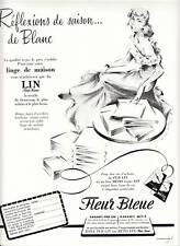Publicité ancienne linge de maison lin 1955 issue de magazine