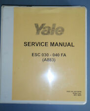 Yale Service Maintenance Manual_100 YRM 0994_620 YRM 0294_ESC 030-040 FA (A883)
