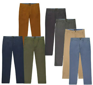 Men's Cotton Tapered Slim & Straight Fit Stretchy US Chino Trouser Pants RRP $89