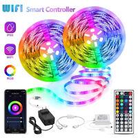 5M 10M 20M LED Strip Light 3528 SMD RGB 60Leds/m Waterproof WIFI IR Controller