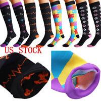 1 Pair Compression Leg Sleeve Socks 20-30mmHg Graduated Support Mens Womens S-XL