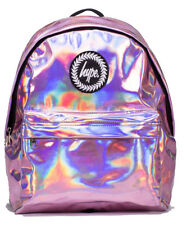 1a064ca0dfec Just Hype Holographic Backpack Pink Rucksack School Bag