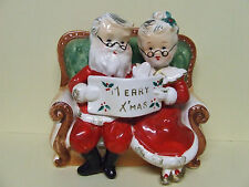 Vintage Napco Christmas Mr. & Mrs. Santa Bank (#4JX4273/S)