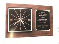 """12"""" x 18"""" Employee of Month/Sports/Retirement Clock Plaque/Award Free Engraving"""