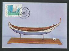 PORTUGAL MK 1977 SCHIFFE SHIPS MAXIMUMKARTE CARTE MAXIMUM CARD MC CM d6412