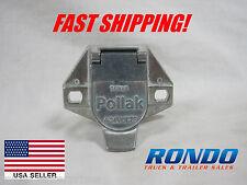 Pollak 7 way Round semi Style socket  Vehicle End Light Plug 7 round pin 11-721
