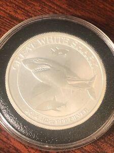 2014 Australia 1/2 oz. Silver Great White Shark *Perth Mint* .999 Coin 50 cents