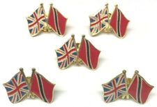 More details for 5 uk & trinidad and tobago friendship flags metal pin badges free postage