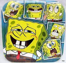 Sponge Bob Square Dinner Plates 8 Count Spongebob Plate Party Supplies Supply