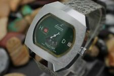 *NOS* Vintage LAUSANNE Direct Read Digital Dashboard Jump Hour Men's Watch