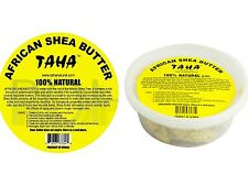 TAHA 100% NATURAL AFRICAN SHEA BUTTER (CHUNKY ) 5 Oz **100% ORIGINAL**