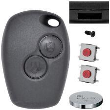 Schlüssel Funk Fernbedienung 2 Tasten Gehäuse + Batterie + Mikrotaster  Renault