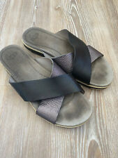Ugg Kari Slides Sandals Shoes Grey Metallic Pewter 40 40.5 7 7.5