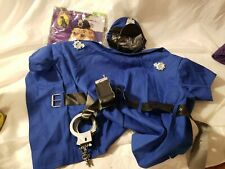 Dog Costume Police Uniform Large Clothes Halloween Handcuffs Blue Uniform