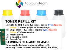TONER REFILL RESET CHIP FOR SAMSUNG  CLT-404S Xpress SL-C430W C430 C480W C480FW