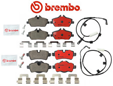 Front Brake Pads & Rear Brake Pads + Sensor Ceramic OEM Brembo Mini Cooper Turbo