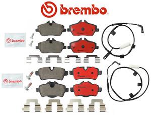 Front Brake Pads & Rear Brake Pads + Sensor Ceramic OEM Brembo Mini Cooper Turbo