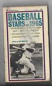 Pyramid Books Baseball Stars of 1965 MICKEY MANTLE KEN BOYER BOB GIBSON MAYS