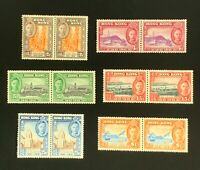 Hong Kong Stamps. SC 168-173. Pairs. Complete Set. MH. 1941. *COMBINED SHIPPING*