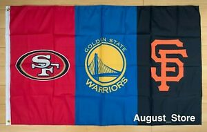 Bay Area Teams San Francisco 49ers Giants Golden State Warriors Flag 3x5 ft