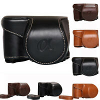 Leather Camera Bag Case Cover Pouch For Sony A6000 A6300 NEX6 Cameras Bags NEW