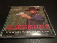 """RARE! CD 2 TITRES """"JOHNNY HALLYDAY : LE SPECIALISTE"""" édition limitée"""