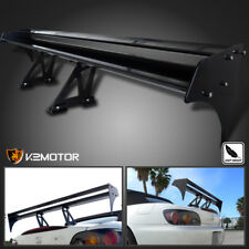 "52"" Double Deck Aluminum GT Type III Racing Trunk Spoiler Wing"