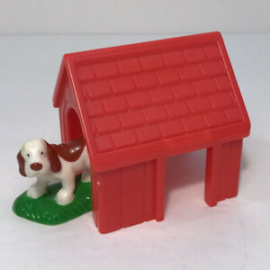 Vintage 1999 Lincoln Logs Lonesome Pine Cabin Replacement Dog Figure & Doghouse