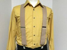 "New, Men's, Tan, XL, 2"", Adj. Suspenders / Braces, Made in the USA"